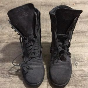 AUTHENTIC Chanel gray suede women's boots